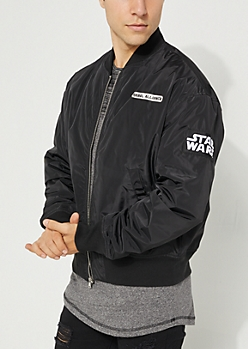 Rebel Alliance Patched Bomber Jacket