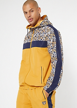 Parish Nation Camel Side Striped Logo Track Jacket