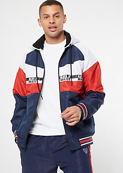 Americana Self Made Zip Up Puffer Jacket
