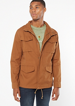 Khaki Anorak Reveal Hooded Jacket