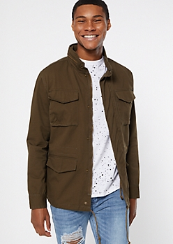 Olive Anorak Reveal Hooded Jacket