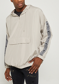 Light Gray Savage Pullover Windbreaker