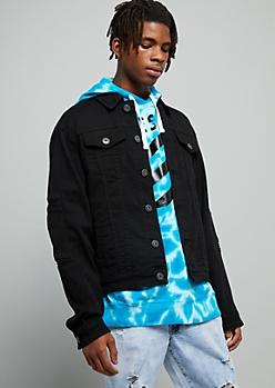 Black Moto Jean Jacket
