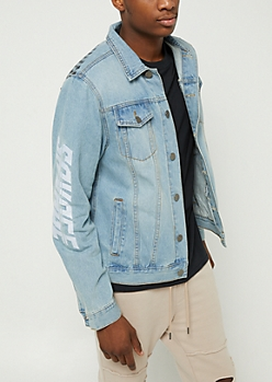 Racing Savage Panel Denim Jacket