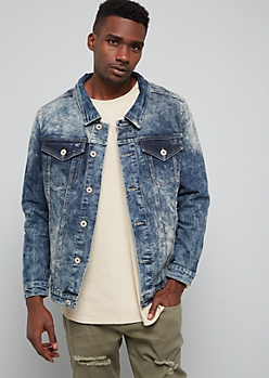 Dark Acid Wash Jean Jacket