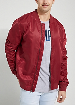 2-Pack Red And Camo Print Bomber Jacket Set