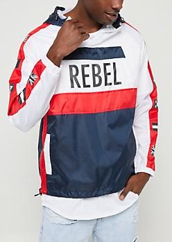 White Colorblock Rebel Windbreaker