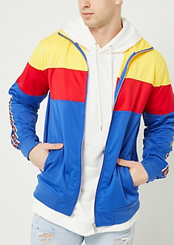 Royal Blue Tricot Colorblock Track Jacket