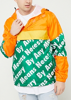 Green By Any Means Hooded Windbreaker