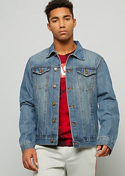 Medium Wash Button Down Denim Jacket