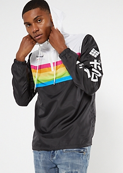 Colorblock Kanji Polaroid Anorak Windbreaker