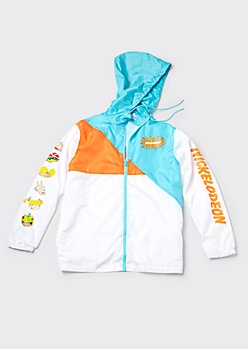 White Colorblock Nickelodeon Windbreaker