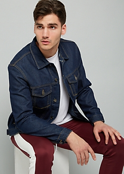 Dark Wash Button Down Denim Jacket