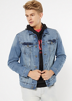 Light Wash Front Pocket Jean Jacket
