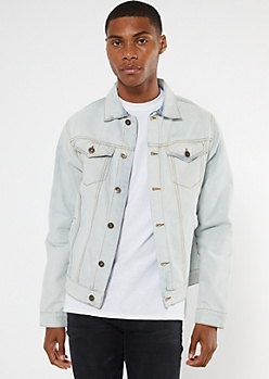 Light Wash Faded Denim Trucker Jacket
