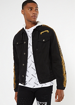 Black Notorious Myth Jean Jacket