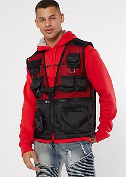 Rothcho Black Mesh Utility Pocket Vest