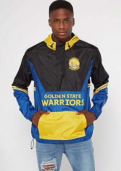 NBA Golden State Warriors Colorblock Half Zip Windbreaker