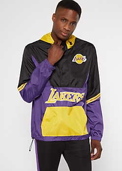 NBA Los Angeles Lakers Colorblock Half Zip Windbreaker