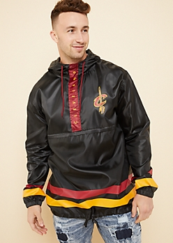 Cleveland Cavaliers Black Athletic Stripe Windbreaker