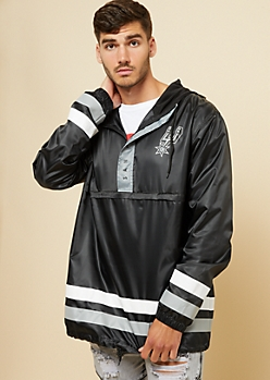 San Antonio Spurs Black Athletic Stripe Windbreaker