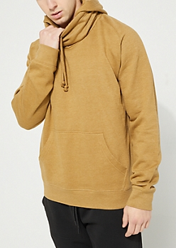 Sand Funnel Neck Fleece Hoodie
