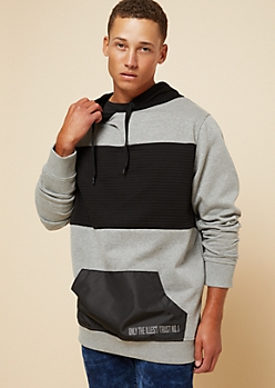 Gray Colorblock Only The Illest Moto Hoodie
