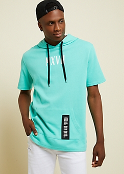 Mint Young And Funded Waffle Knit Hoodie