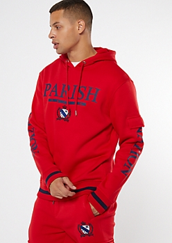 Parish Nation Red Cargo Graphic Hoodie