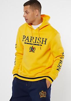 Parish Nation Yellow Cargo Graphic Hoodie