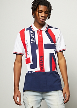Parish Nation Americana Colorblock Polo Shirt