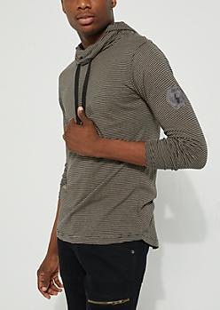 Black Striped Hoodie