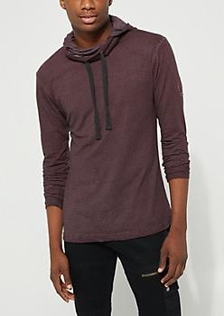 Burgundy Striped Hoodie
