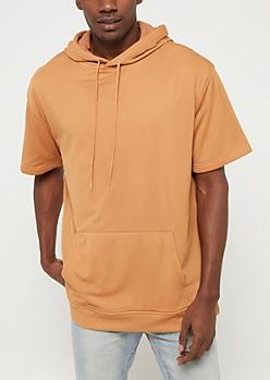 Sand Mesh Short Sleeve Hoodie
