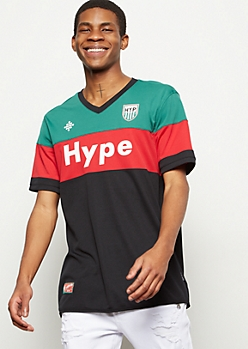 Green Colorblock Hype Jersey Tee