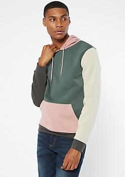 Hunter Green Colorblock Hoodie