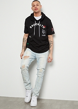 Black Brooklyn Hooded Graphic Tee