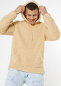 Sand Sherpa Pullover Hoodie