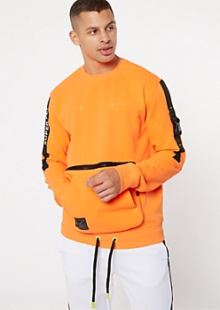 Neon Orange Super Fly Buckled Sweatshirt