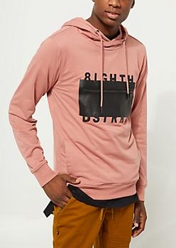 Light Pink 8igth Dstrkt Funnel Neck Hoodie