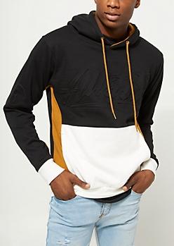 Black Color Block Allstar Hoodie