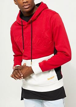 Red Color Block Allstar Hoodie