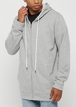 Heather Gray Zip Up Hoodie