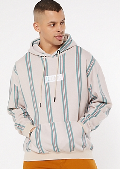 Taupe Iconic Block Embroidered Hoodie