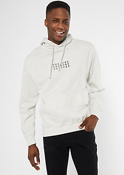Oatmeal Heather Culture Embroidered Hoodie