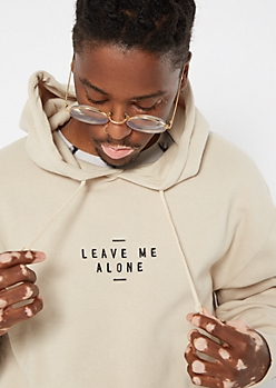 Sand Leave Me Alone Embroidered Hoodie