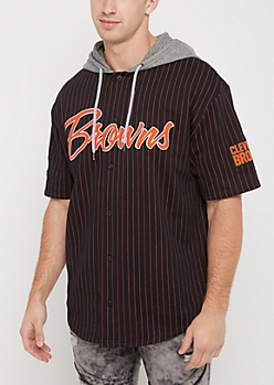 Cleveland Browns Hooded Baseball Jersey
