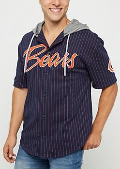 Chicago Bears Hooded Baseball Jersey