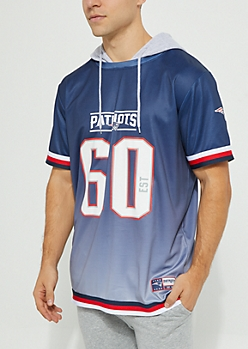 New England Patriots Hooded Mesh Top