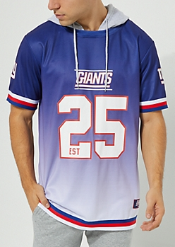 New York Giants Hooded Mesh Top